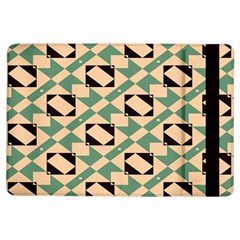 Brown Green Rectangles Pattern 	apple Ipad Air Flip Case