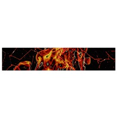 On Fire Print Flano Scarf (Small)