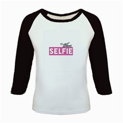 Selfie Whore Kids Long Cap Sleeve T-Shirt