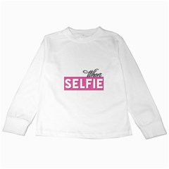 Selfie Whore Kids Long Sleeve T-Shirt