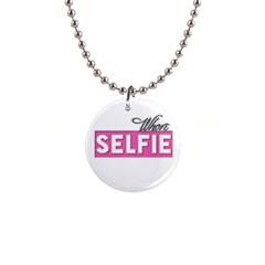 Selfie Whore Button Necklace