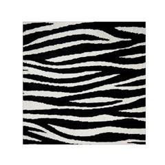 Black White Tiger  Small Satin Scarf (square)