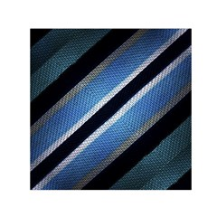 Geometric Stripes Print Small Satin Scarf (square)