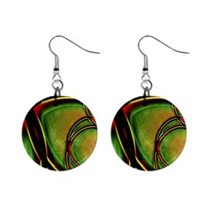 Multicolored Abstract Print Mini Button Earrings