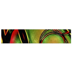Multicolored Abstract Print Flano Scarf (Small)