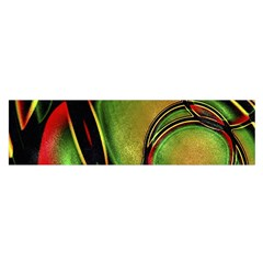 Multicolored Abstract Print Satin Scarf (oblong)