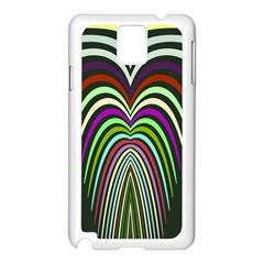 Symmetric waves Samsung Galaxy Note 3 N9005 Case (White)