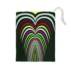 Symmetric Waves Drawstring Pouch
