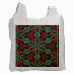 Green Tribal Star Recycle Bag (one Side)