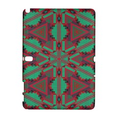 Green Tribal Star Samsung Galaxy Note 10 1 (p600) Hardshell Case
