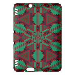 Green tribal star Kindle Fire HDX Hardshell Case