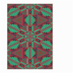 Green tribal star Small Garden Flag
