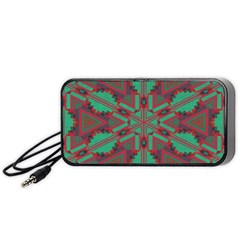 Green tribal star Portable Speaker