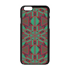 Green tribal star Apple iPhone 6 Black Enamel Case