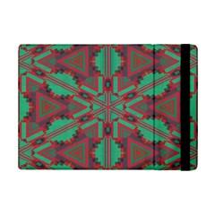 Green tribal star Apple iPad Mini 2 Flip Case