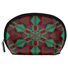 Green tribal star Accessory Pouch
