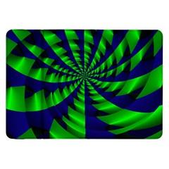 Green Blue Spiral Samsung Galaxy Tab 8 9  P7300 Flip Case