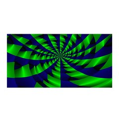 Green blue spiral Satin Wrap