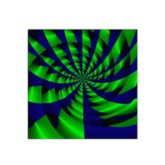 Green blue spiral Satin Bandana Scarf