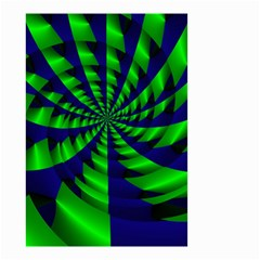Green blue spiral Small Garden Flag