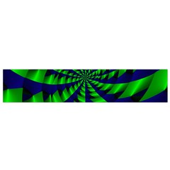 Green blue spiral Flano Scarf
