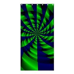 Green blue spiral Shower Curtain 36  x 72