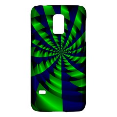 Green blue spiral Samsung Galaxy S5 Mini Hardshell Case