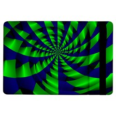 Green blue spiral 	Apple iPad Air Flip Case