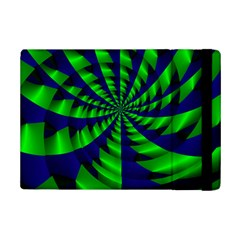 Green Blue Spiral 	apple Ipad Mini 2 Flip Case