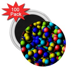 Colorful Balls 2 25  Magnet (100 Pack)