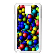 Colorful Balls Samsung Galaxy Note 3 N9005 Case (white)