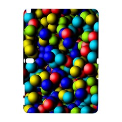 Colorful balls Samsung Galaxy Note 10.1 (P600) Hardshell Case