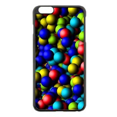 Colorful balls Apple iPhone 6 Plus Black Enamel Case