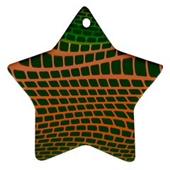 Distorted Rectangles Star Ornament (two Sides)