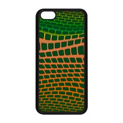 Distorted rectangles Apple iPhone 5C Seamless Case (Black)