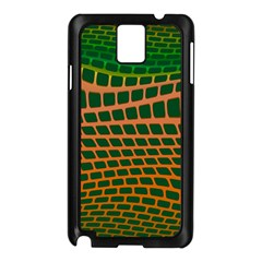 Distorted rectangles Samsung Galaxy Note 3 N9005 Case (Black)