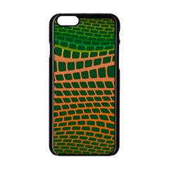 Distorted rectangles Apple iPhone 6 Black Enamel Case