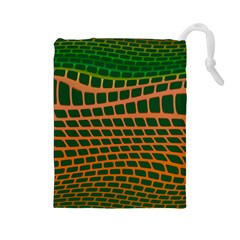 Distorted rectangles Drawstring Pouch