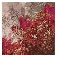 Floral Print Collage  Large Satin Scarf (Square)