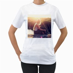 Boho Blonde Women s Two Sided T Shirt (white)