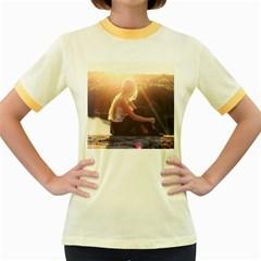 Boho Blonde Women s Ringer T-shirt (Colored)