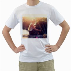 Boho Blonde Men s Two-sided T-shirt (White)