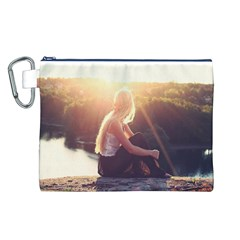 Boho Blonde Canvas Cosmetic Bag (Large)