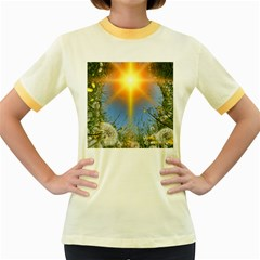 Dandelions Women s Ringer T-shirt (Colored)