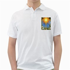 Dandelions Men s Polo Shirt (White)
