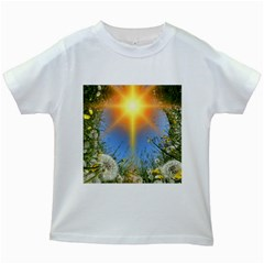 Dandelions Kids T-shirt (White)