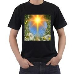 Dandelions Men s Two Sided T-shirt (Black)