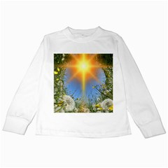 Dandelions Kids Long Sleeve T Shirt