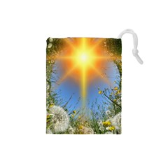 Dandelions Drawstring Pouch (Small)
