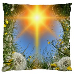 Dandelions Large Flano Cushion Case (Two Sides)